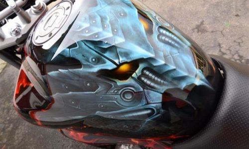 000579 Airbrush Motorrad 15